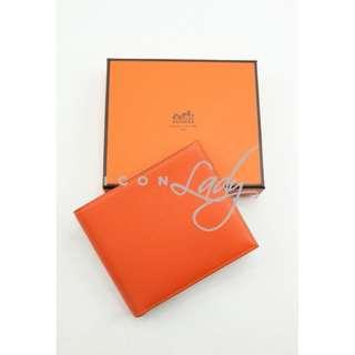 (Sale Promotion) HERMES MC² Copernic Orange 橙色 (CK93) Evergrain Calfskin 短銀包 錢包