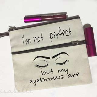 Multizip Canvas Pouch (perfect eyebrows)