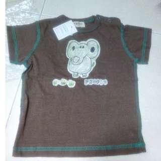 (WJ0117) New kids Tee Top (elephant)