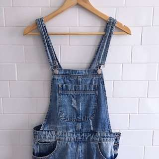 Denim Jumper Overalls