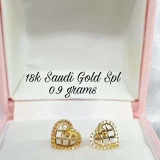 SALE! 18K SPECIAL SAUDI GOLD EARRINGS