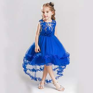 Girl Flower Princess Dress Bridesmaid Party Wedding Formal Pageant Dresses