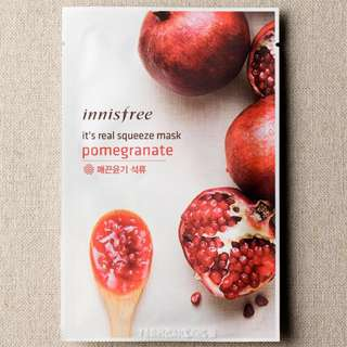 $1.30 ❤️INSTOCKS❤️ Innisfree Its Real Squeeze Mask [Pomegranate ]