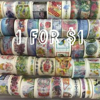 $1 for 1 roll Washi Tape Clearance