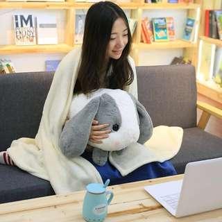 Rabbit Cushion And Blanket