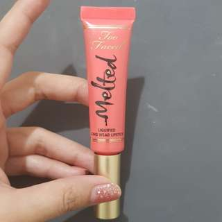 Too faced liquified long wear lipstick in melon