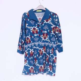 Mini Dress Batik Tosca