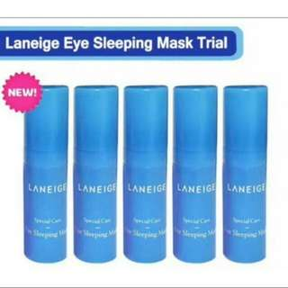 Laneige Eye Sleeping Mask Trial / Sample Size