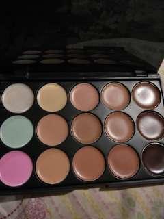 15 colors concealer make up palette