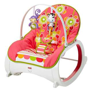 BNIB- Fisher-Price Infant-to-Toddler Rocker - Floral Confetti