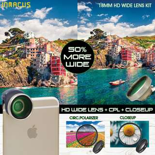 [For iPhone 6/6s PLUS] Inmacus 18mm HD Wide Lens Kit