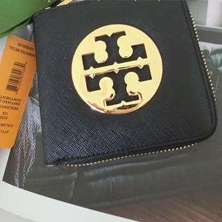奇摩棄單/重刊 Tory Burch 正品 短款零錢包十字紋錢包真皮卡包 大logo (不議價) 先轉帳可店到店或郵寄免運