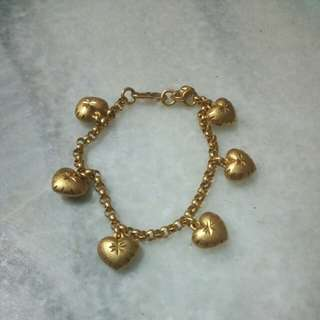 KLF 24K Gold Plated Heart