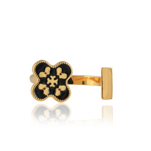 16K Gold Plated Quarte Ring by Emporium D