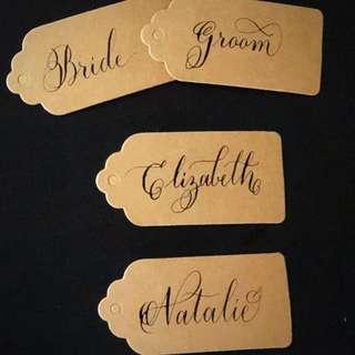 Handmade Wedding / Gift Tags