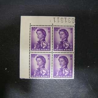1960年 軍裝女皇 四方連 壹角 小錯體 號碼位 背有黃