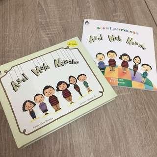 Buku Rabbit Hole RH Asal Mula Namaku plus Booklet Permaninan