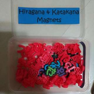 Hiragana and Katakana magnets