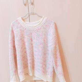 🍬可愛寬鬆糖果色毛衣🍬