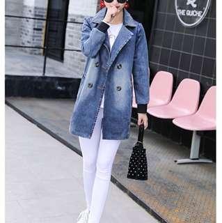 1604 Fashion Denim Jacket Blue