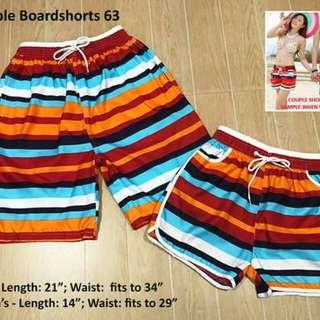 Couple board shorts