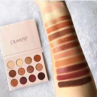 (RESERVE NOW) COLOURPOP GIVE IT TO ME STRAIGHT NEW IN EYESHADOW PALETTE PO