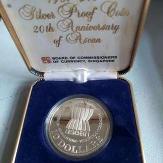2 ASEAN Anniversary 1987 $10 Silver Proof Coins