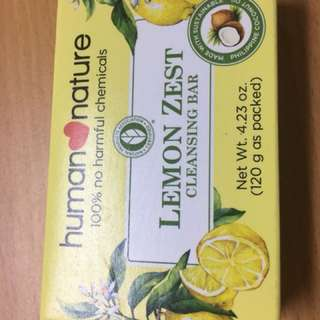 Human Nature Lemon Zest Cleansing Bar