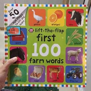 New& segel 100 farm words lift the flap