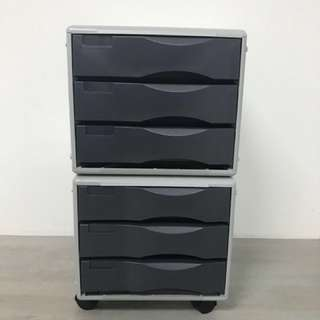 Portable 6 tier mobile drawer