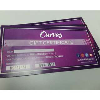 Curves Gift Certificate