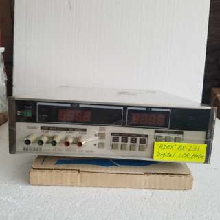 ADEX AX-231 Digital LCR Meter Made in japan ( 全新淨機) Crazy offer : $1200