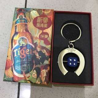 Tiger Beer keychain with dice