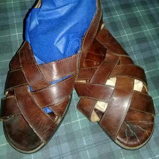 """BALLY Mens Maroon Leather """"PALO"""" Sandals Size 8M ITALY"""