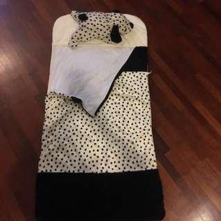 Toddler Dalmatian sleeping bag
