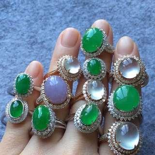 18k鑲玉戒指