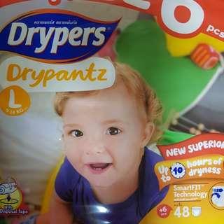 Drypers Drypantz size L