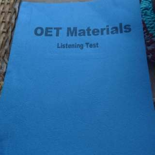 OET MATERIALS FOR NURSES