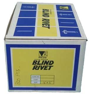 """Aluminum Blind Rivets 1/8"""" x 1/2"""" (800pcs per box)"""