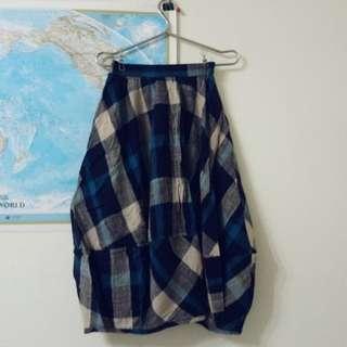 日本Heart&Marset 長裙 格紋 藍色 森林系女孩