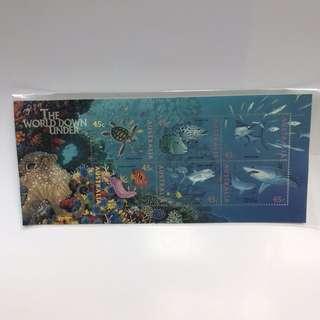 澳洲郵票 Australia 1995 The World Down Under 水底世界