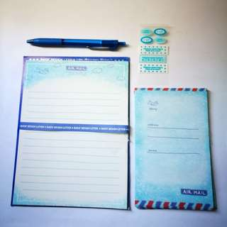 PRE💙D Basic Letter Design Airmail Stationery Set