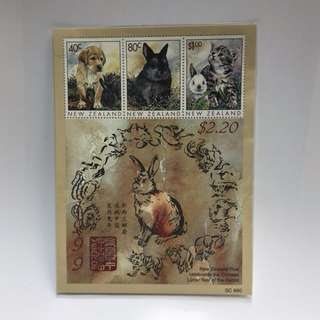紐西蘭郵票 New Zealand 1999 兔