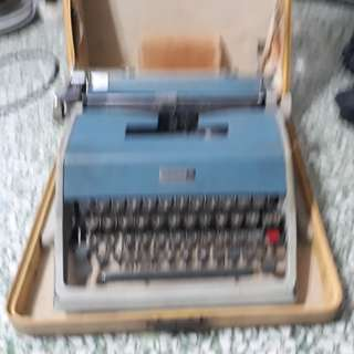 vintage type writer under wood 21