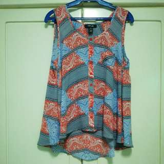 Sleeveless Top with Print