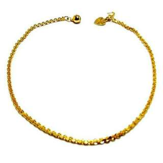 KLF Ankle Bracelet Gold Plated RM 14.88 (rm49.58)