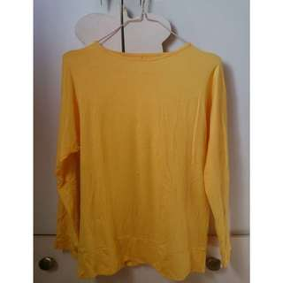 Kaos Atasan Polos Kuning