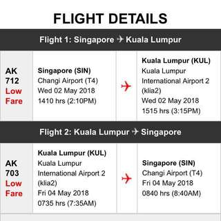 FLIGHT TICKETS FROM SINGAPORE TO MALAYSIA