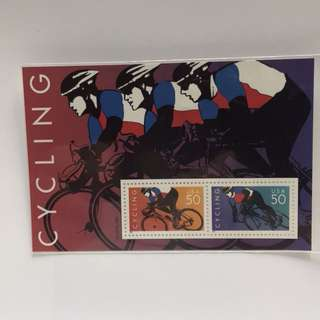 USA郵票  1996 Cycling 單車