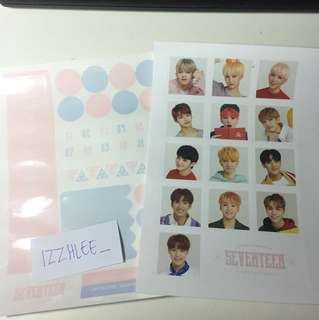Seventeen 2018 Season Greeting Sticker Set